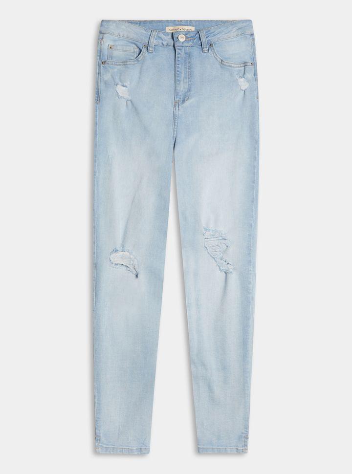 Jeans Slim Desgaste Rodillas 4