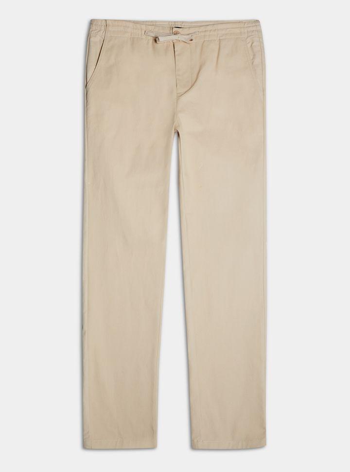 Pantalón Encauchado Beige 28