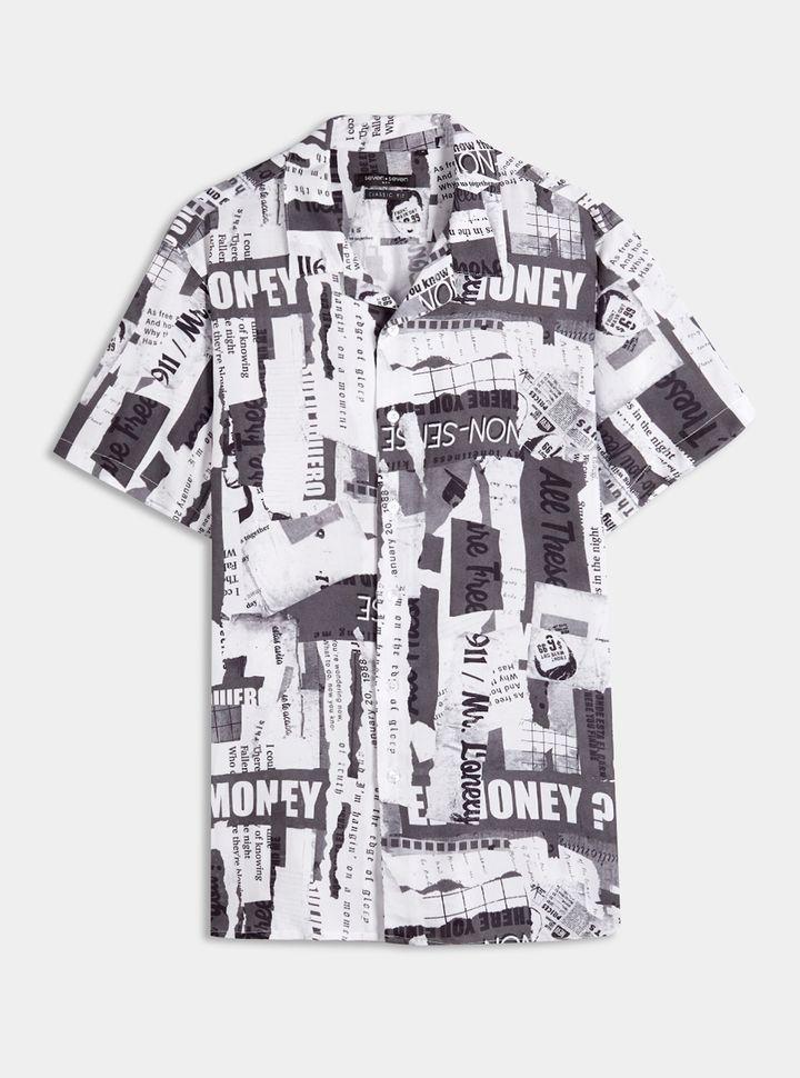 Camisa Estampado Textos XL