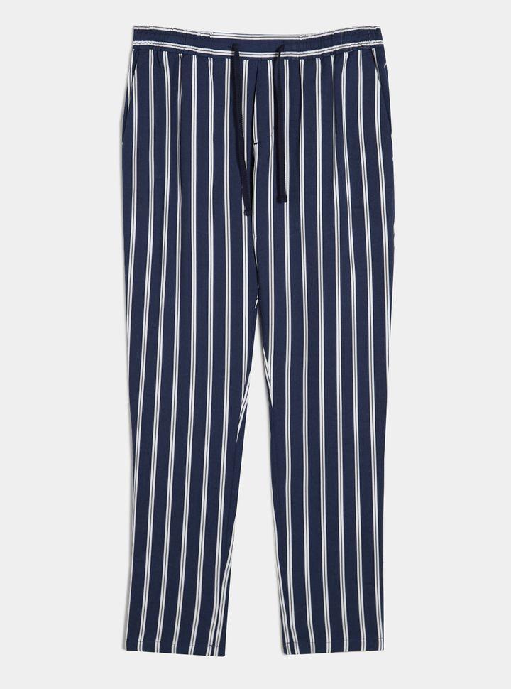 Pantalón azul rayas Azul M