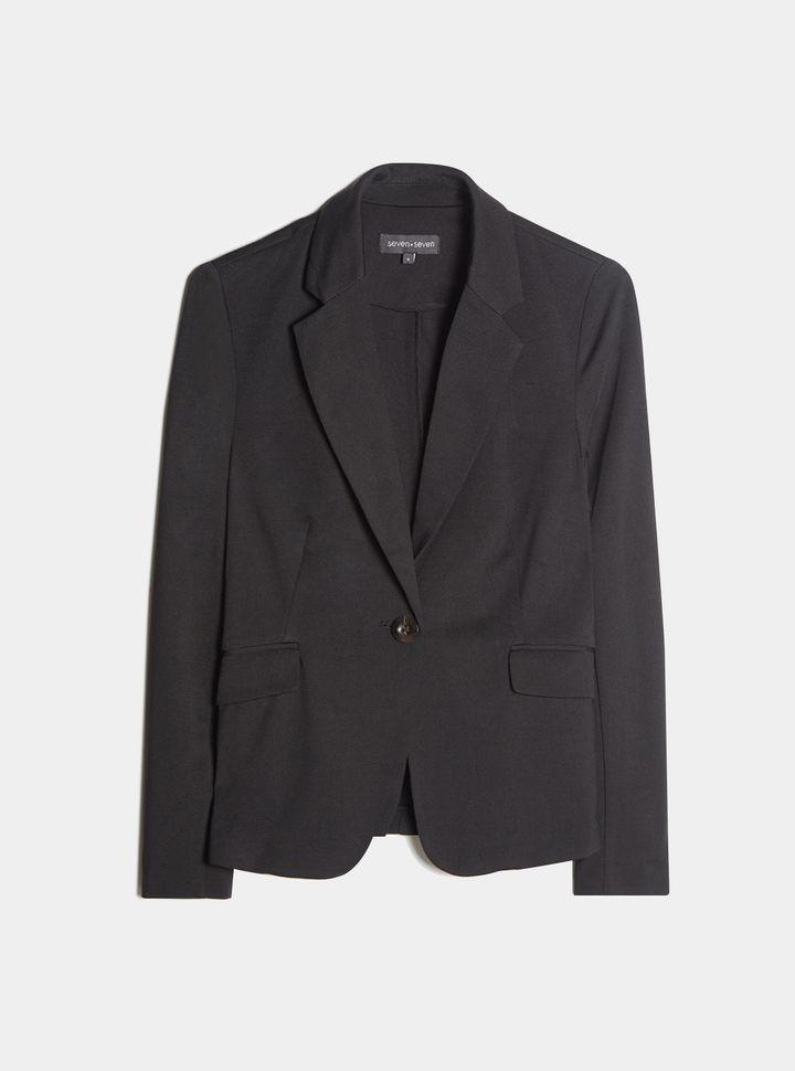 Blazer Unicolor Color Negro, Talla M