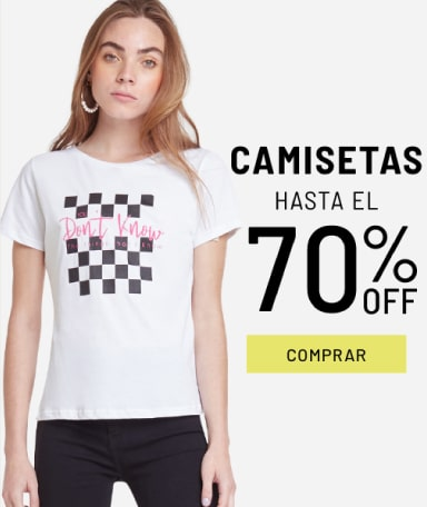 Banner Camisetas - Sale - Mujer Mobile