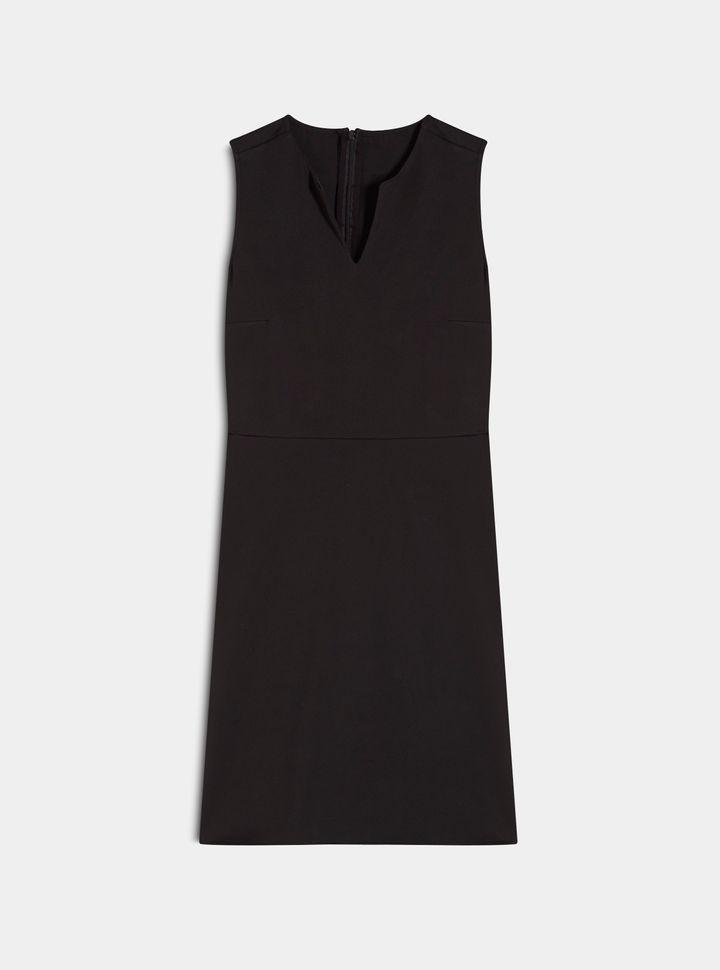 VESTIDO MANGA SISA  ESCOTE V Vestido ajustado escote en V-L