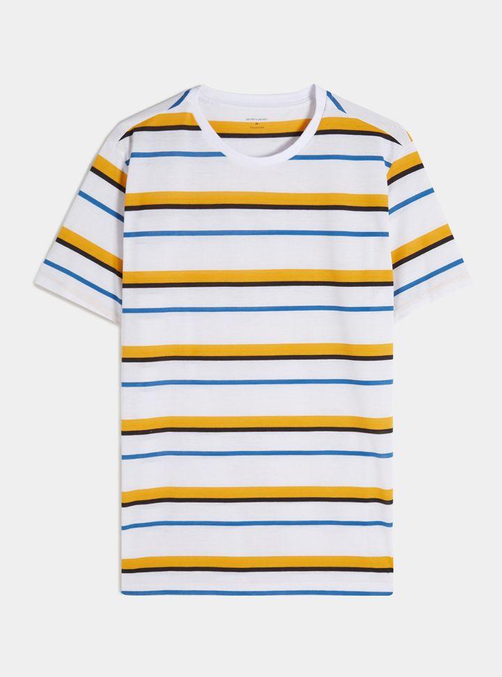Camiseta básica a rayas-XL