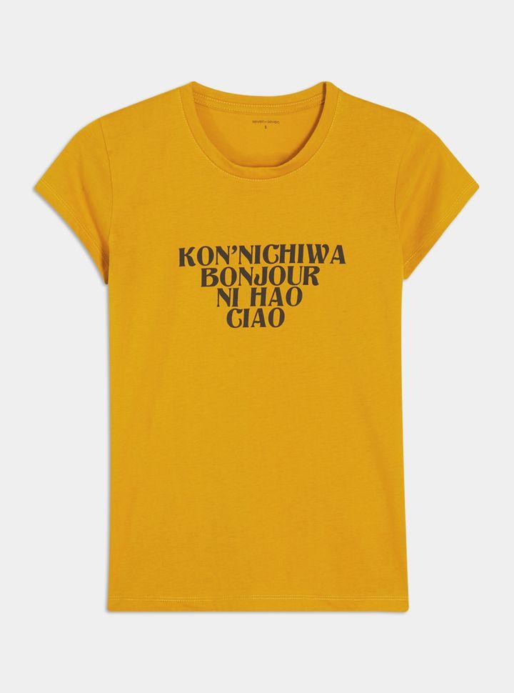 Camiseta Estampada Bonjour-L