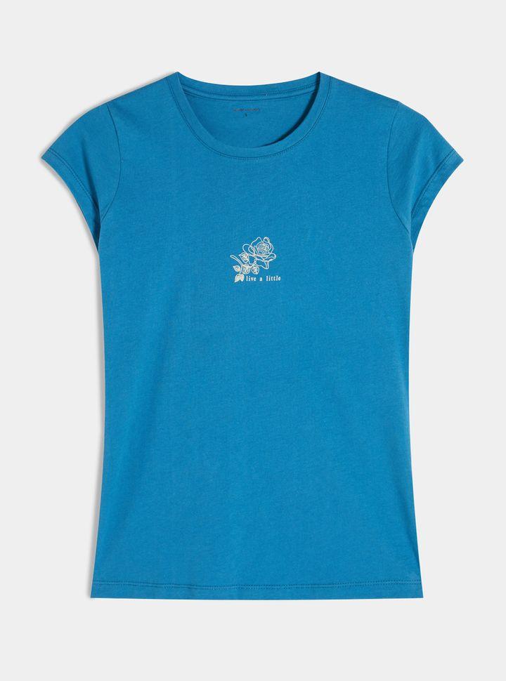 Camiseta Azul Con Ilustración Screen-M