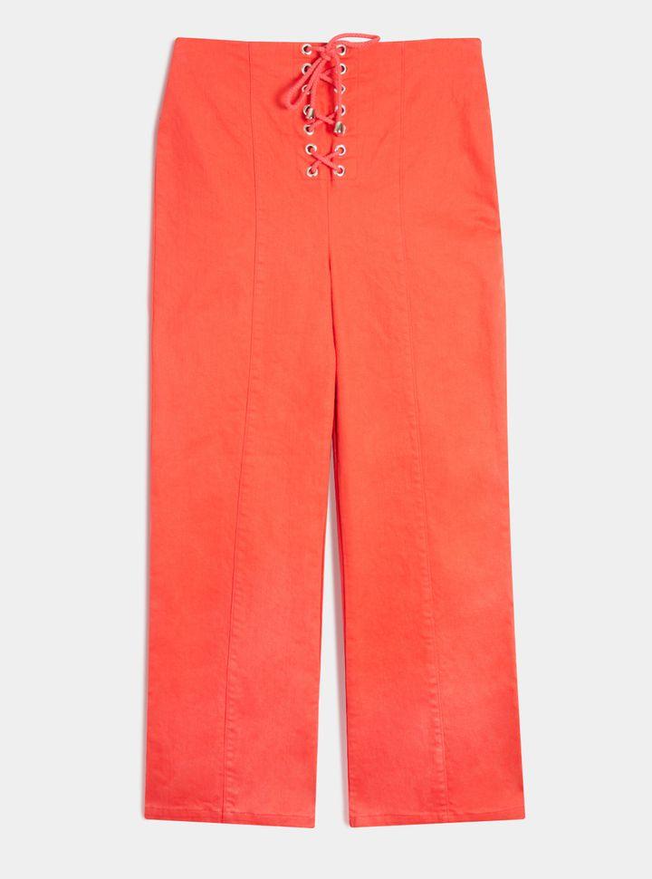 Pantalón con acordonado en cierre Rojo 4