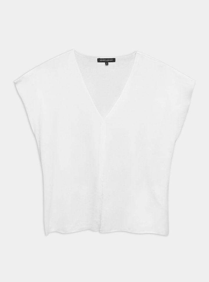 Camiseta Cuello V Unicolor-XL