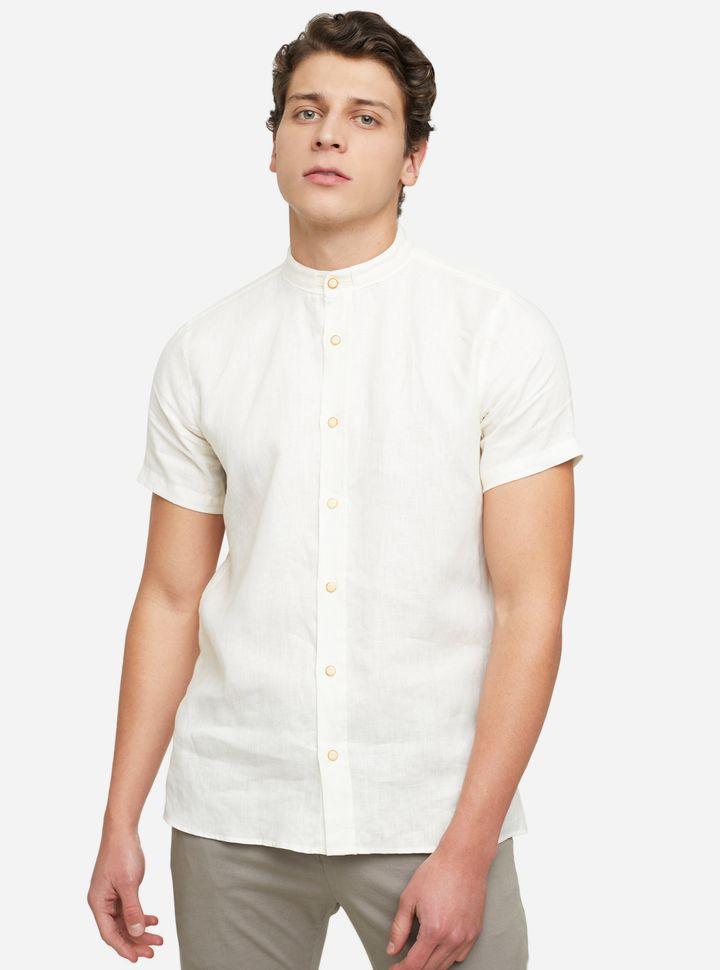 Camisa Slim Fit Cuello Mao-XL