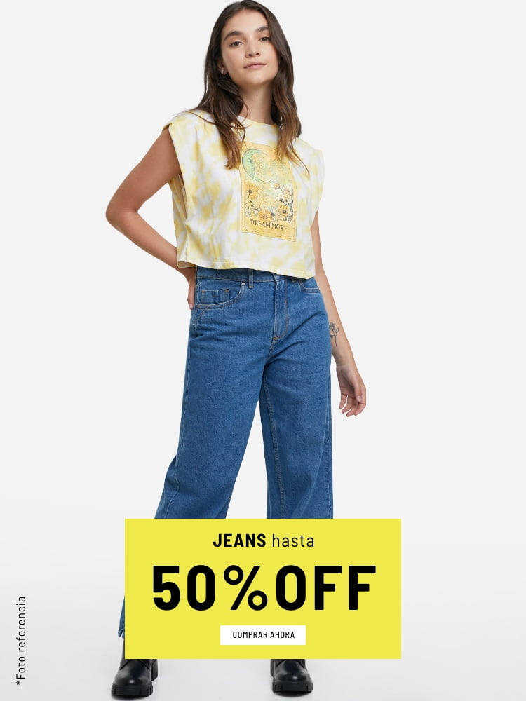 Banner Home - Mujer Cyberdays JUN2021 - Jeans Hasta 50% (Mobile)