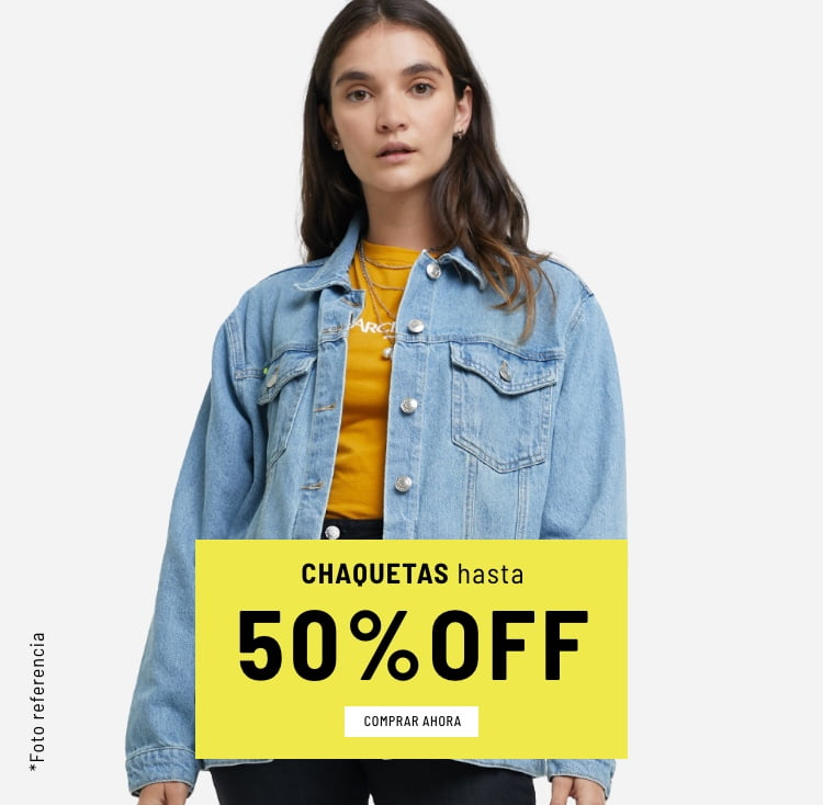 Banner Home - Mujer Cyberdays JUN2021 - Chaquetas Hasta 50% (Mobile)