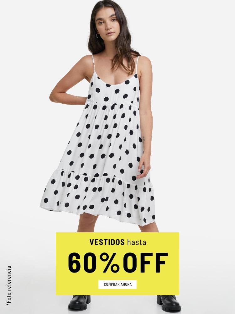 Banner Home - Mujer Cyberdays JUN2021 - Vestidos Hasta 60% (Mobile)