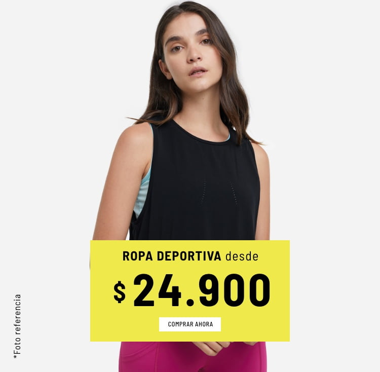 Banner Home - Mujer Cyberdays JUN2021 - Ropa Deportiva Desde $24.900 (Mobile)