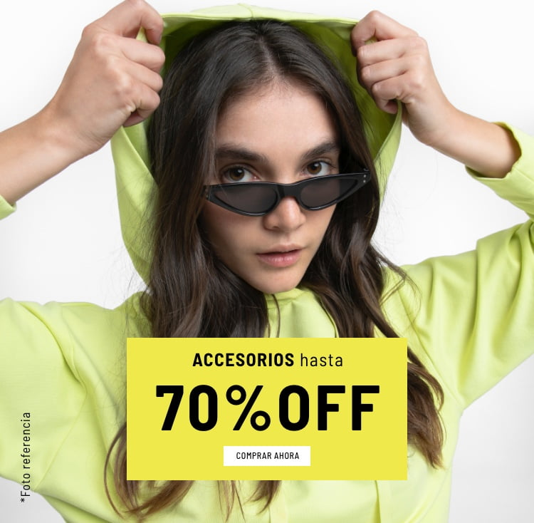 Banner Home - Mujer Cyberdays JUN2021 - Accesorios Hasta 70% (Mobile)