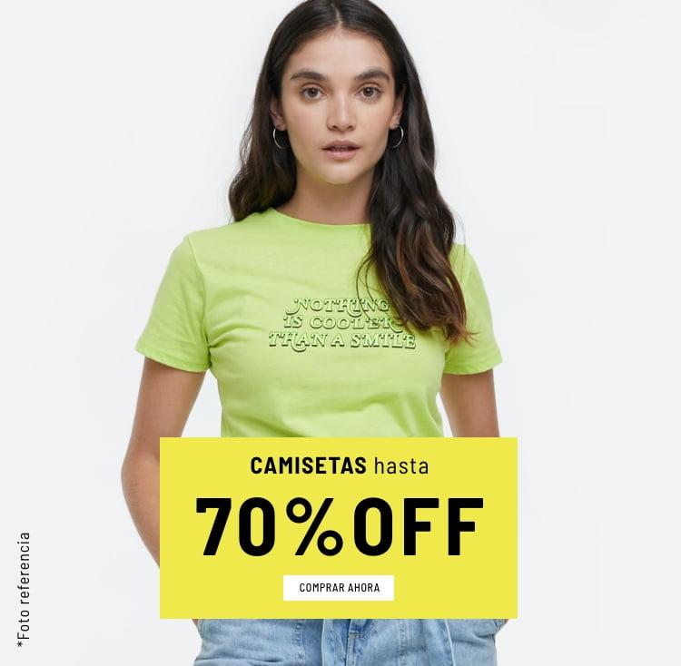 Banner Home - Mujer Cyberdays JUN2021 - Camisetas Hasta 70% (Mobile)