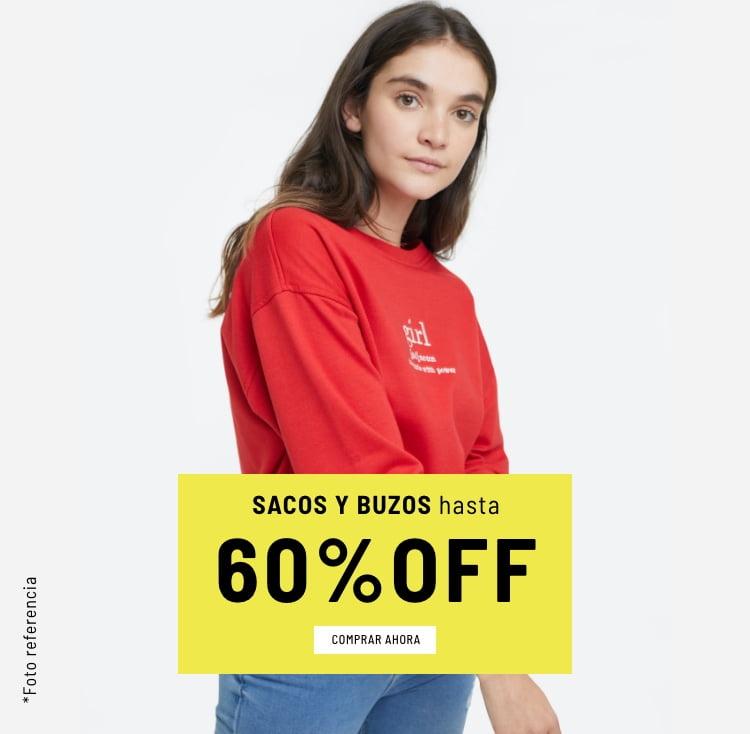 Banner Home - Mujer Cyberdays JUN2021 - Sacos y Buzos Hasta 60% (Mobile)